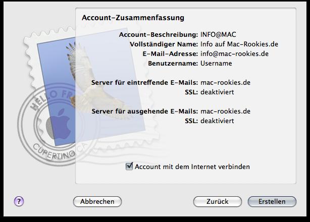 EMail Konto In Apple Mail MacEinsteigerde - Minecraft server erstellen fur mac