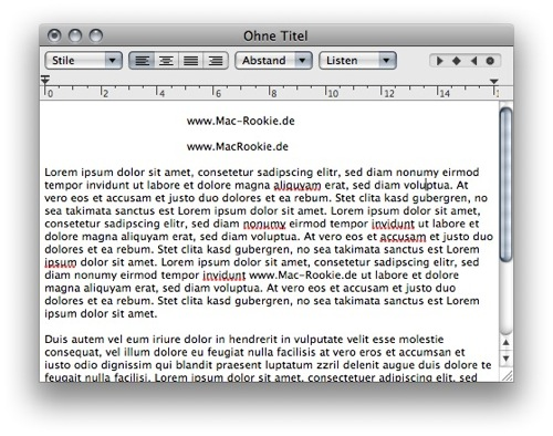 Mac TextEdit
