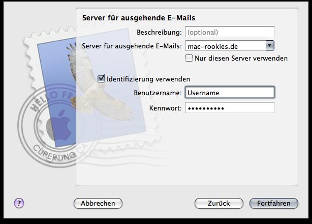 SMTP-Einstellungen