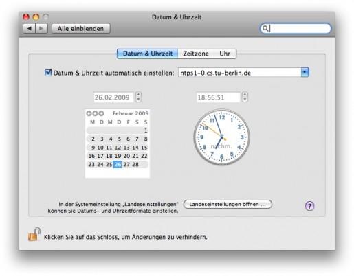 Datum & Uhrzeit automatisch einstellen