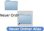 Mac - Neuer Alias
