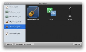 iLife GarageBand - iPhone Klingelton