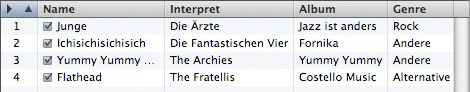 Mac iTunes - Playlist manuell sortiert