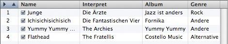 Mac iTunes - Playlist manuell sortiert