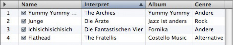 Mac iTunes - Playlist nach iTunes sortiert