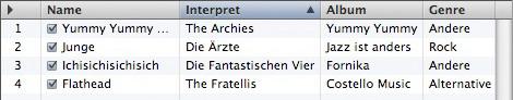 Mac iTunes - Playlist nach iTunes sortiert