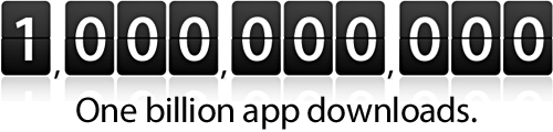 1 Milliarde App Downloads