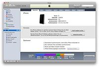iTunes iPhone Übersicht