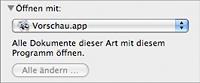 Dateiinformationen - öffnen mit