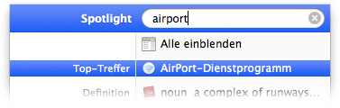 AirPort-Dienstprogramm starten