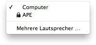 Airtunes - iTunes Lautsprecherauswahl