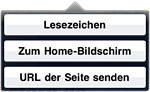 Apple iPad - Safari Bookmark zum Home-Bildschirm