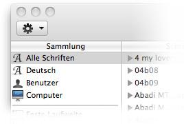 Mac OS Schriftensammlung