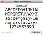Mac OS Schriftensammlung Preview