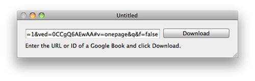 Google Books Downloader Buch-URL