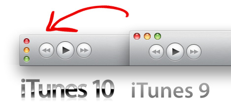 iTunes 10 Buttonsanordnung