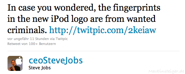In case you wondered, the fingerprints in the new iPod logo are from wanted criminals