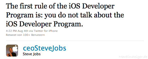 The first rule of iOS Developer Program is: you do not talk about the iOS Developer Program.