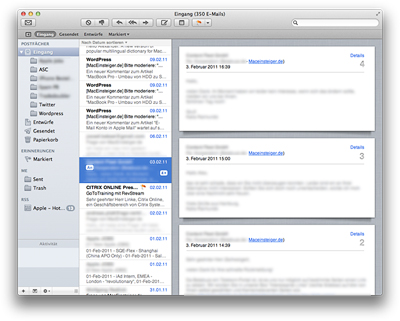 Mac OS X Lion - Mail
