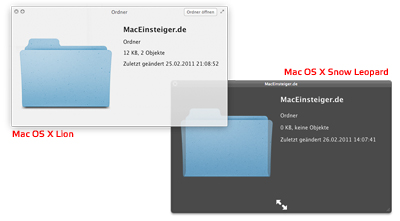 Mac OS X Lion vs Snow Leopard - Quicklook