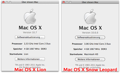 Mac OS X Lion vs Snow Leopard - Buttons