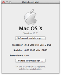 Mac OS X Version 10.7