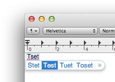 Mac OS X Lion - TextEdit Rechtschreibkontrolle