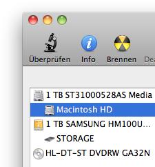 Macintosh HD löschen