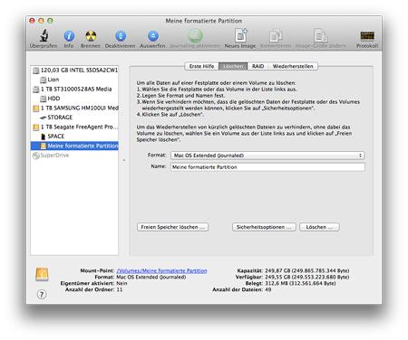 Festplatte formatieren cmd diskpart