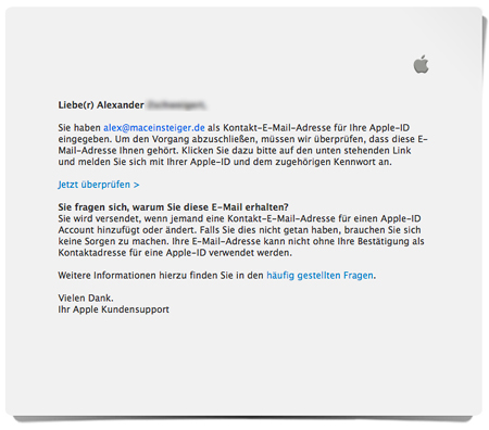 Apple iTunes Mail