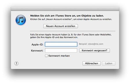 iTunes Neuen Account erstellen