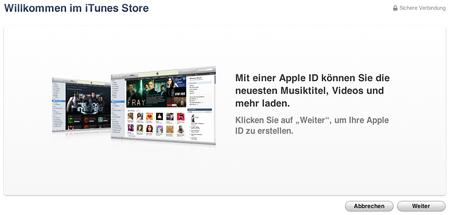 Willkommen i iTunes Store