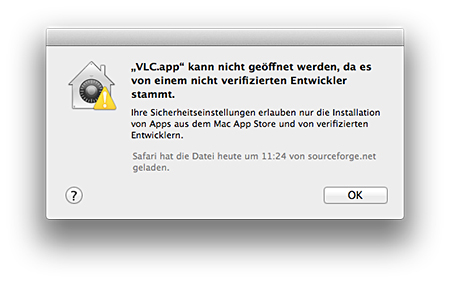 Mountain Lion Gatekeeper & VLC