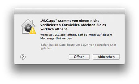 Mountain Lion Gatekeeper VLC zulassen