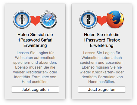 1Password - Browsererweiterung für Safari, Firefox & Chrome