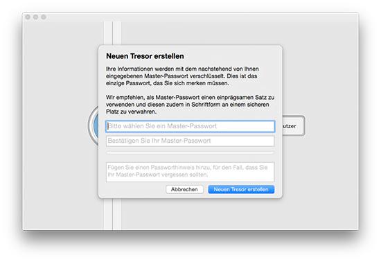 1Password - Neuen Tresor erstellen