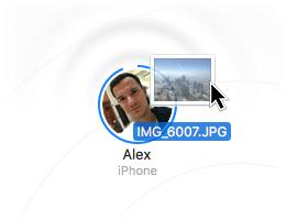 AirDrop Daten vom Mac senden