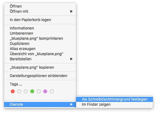 OS X Bild als Schreibtischhintergrund festlegen