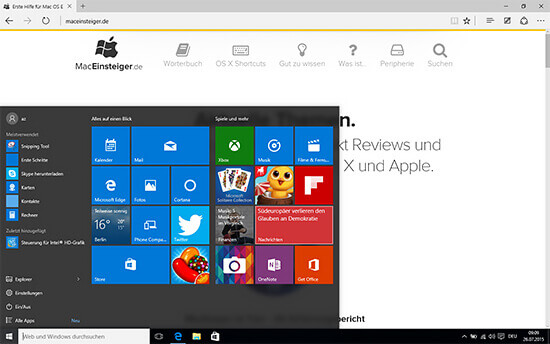 Windows auf dem Mac mit Boot Camp