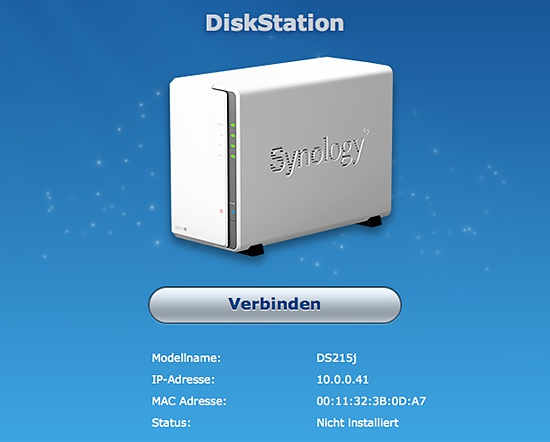 DiskStation gefunden