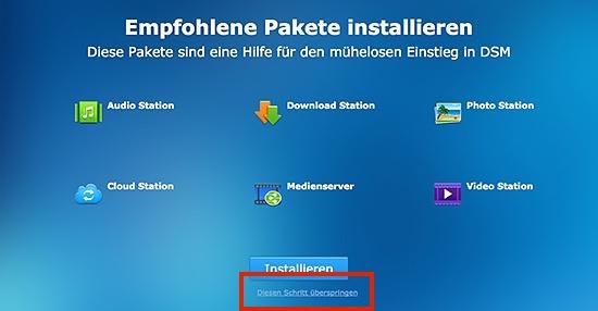 DiskStation Pakete installieren