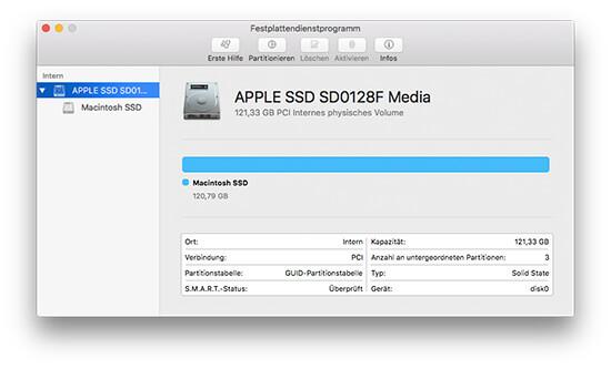 interne festplatte wird nicht angezeigt mac