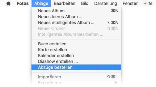 Fotoabzüge bestellen am Mac