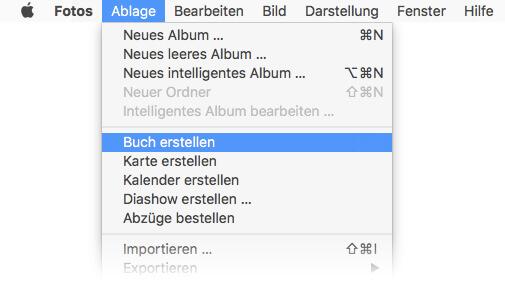 Fotobuch erstellen am Mac
