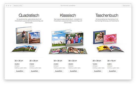 Fotobuch - Fotobuchformat wählen