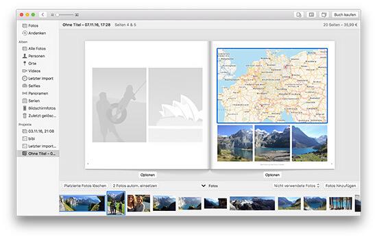Fotobuch - Landkarte