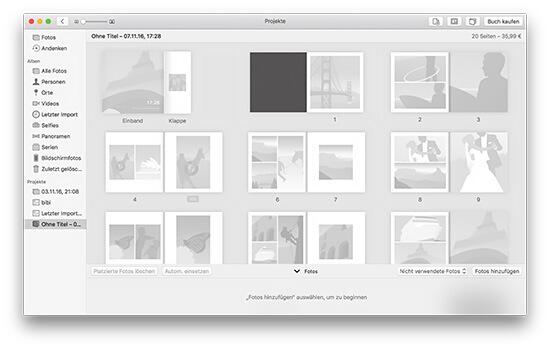 Fotobuch - Leeres Projekt