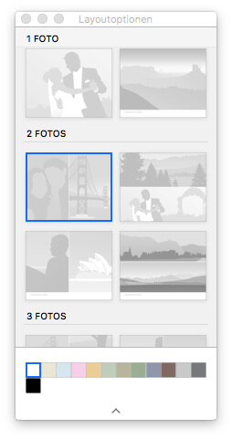 Fotokalender - Layoutoptionen