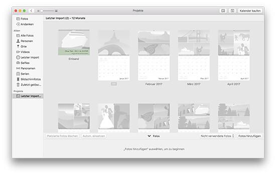 Fotokalender - leeres Projekt