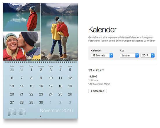 Fotokalender - neues Projekt